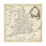 Map of England and Wales Posters by T. Jeffreys