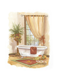 Watercolor Bath in Spice II Prints by Jerianne Van Dijk