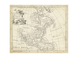 Mapa de América del Norte Lámina por T. Jeffreys