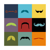 Moustache Grid Prints by  Vision Studio
