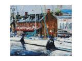 Annapolis Wharf Poster by Curt Crain