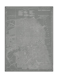 City Map of San Francisco Posters af Vision Studio