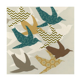 Patterned Flock I Poster by Erica J. Vess