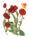 Poppy Whimsy III Poster by Cheryl Baynes
