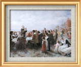 Jean Leon Gerome Ferris - The First Thanksgiving - Reprodüksiyon