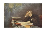 Painting of Robert Schumann Giclee Print