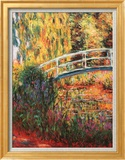 Japanese Bridge, Water Lily Pond Poster by Claude Monet