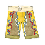Surf Shorts (CI) III Premium Giclee Print by Jennifer Goldberger
