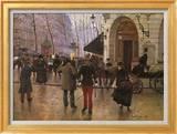 Boulevard des Capucines and The Vaudeville Theatre Kunstdrucke von Jean Béraud