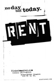 Rent No Day But Today Broadway Poster Print