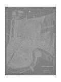 City Karte von New Orleans Kunstdrucke von  Vision Studio