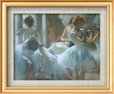 Dancers at Rest Kunst af Edgar Degas