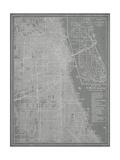 Mapa de la ciudad de Chicago Lámina por Vision Studio