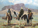 Three Cowboys Giclée-Premiumdruck von Carolyne Hawley