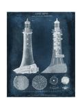 Lighthouse Blueprint Giclée-Premiumdruck von  Vision Studio