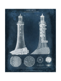 Lighthouse Blueprint Print by  Vision Studio