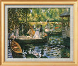 Le Grenouillere Stampe di Pierre-Auguste Renoir