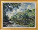 Section of the Seine, near Giverny Poster von Claude Monet