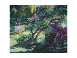 From under the Lilac Premium Giclee Print by Julie G. Pollard