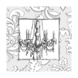 Decorative Chandelier IV Poster by Ethan Harper