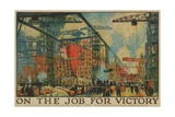On the Job for Victory Giclée-Druck