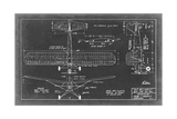 Aeronautic Blueprint VIII Poster von  Vision Studio