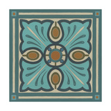 Piazza Tile in Blue I Posters by Erica J. Vess