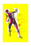Poster of Arrows Pointing to Muscles Giclee Print