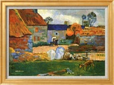 Paul Gauguin - Farm at Pouldu Reprodukce