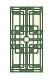 Non-Embellish Emerald Deco Panel I Premium Giclee Print by Erica J. Vess