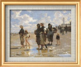 John Singer Sargent - Oyster Gatherers of Cancale - Reprodüksiyon
