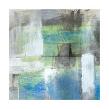White on Blue I Giclée-Premiumdruck von Jennifer Goldberger