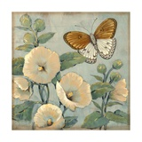 Butterfly and Hollyhocks I Prints by Tim O'toole