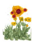 Poppy Whimsy I Posters by Cheryl Baynes