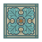 Piazza Tile in Blue IV Prints by Erica J. Vess