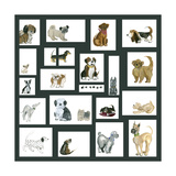 Doggie Grid Posters by Lisa Choate