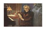 Painting of Hector Berlioz Giclee Print