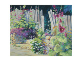 Hollyhock Garden Prints by Julie G. Pollard