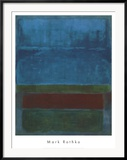 Blue, Green, and Brown Posters by Mark Rothko