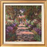 Pathway in Monet's Gardens at Giverny, c.1902 Prints by Claude Monet