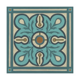 Piazza Tile in Blue III Posters by Erica J. Vess