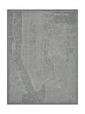 City Karte von New York Kunst von  Vision Studio