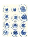 Macrame Blue II Poster von Vanna Lam