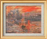 Impressione, sole nascente (blu) Stampa di Claude Monet