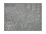 City Map of Washington, D.C. Posters par  Vision Studio