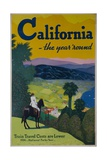 California the Year Round, Travel Poster Giclee Print
