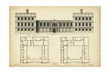 Elevation and Plan for Castle Abby Prints by  Campbell