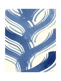 Macrame Blue IV Art by Vanna Lam