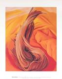 Stump on Red Hills Poster von Georgia O'Keeffe