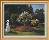 Woman in a Garden Poster di Pierre-Auguste Renoir
